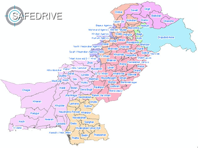 safe drive gps satellite tracker covers all cities of Pakistan